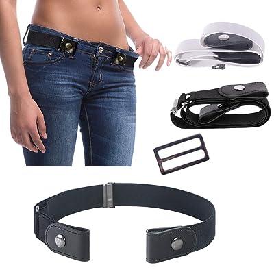 2 Unids Cinturón Elástico de Las Señoras Cinturón Invisible Para Pantalones Vaqueros Sin Hebilla Cinturón Elástico Estiramiento Cinturón Ajustable Cinturón Elástico Ajustable Cinturón Elástico: Deportes y aire libre