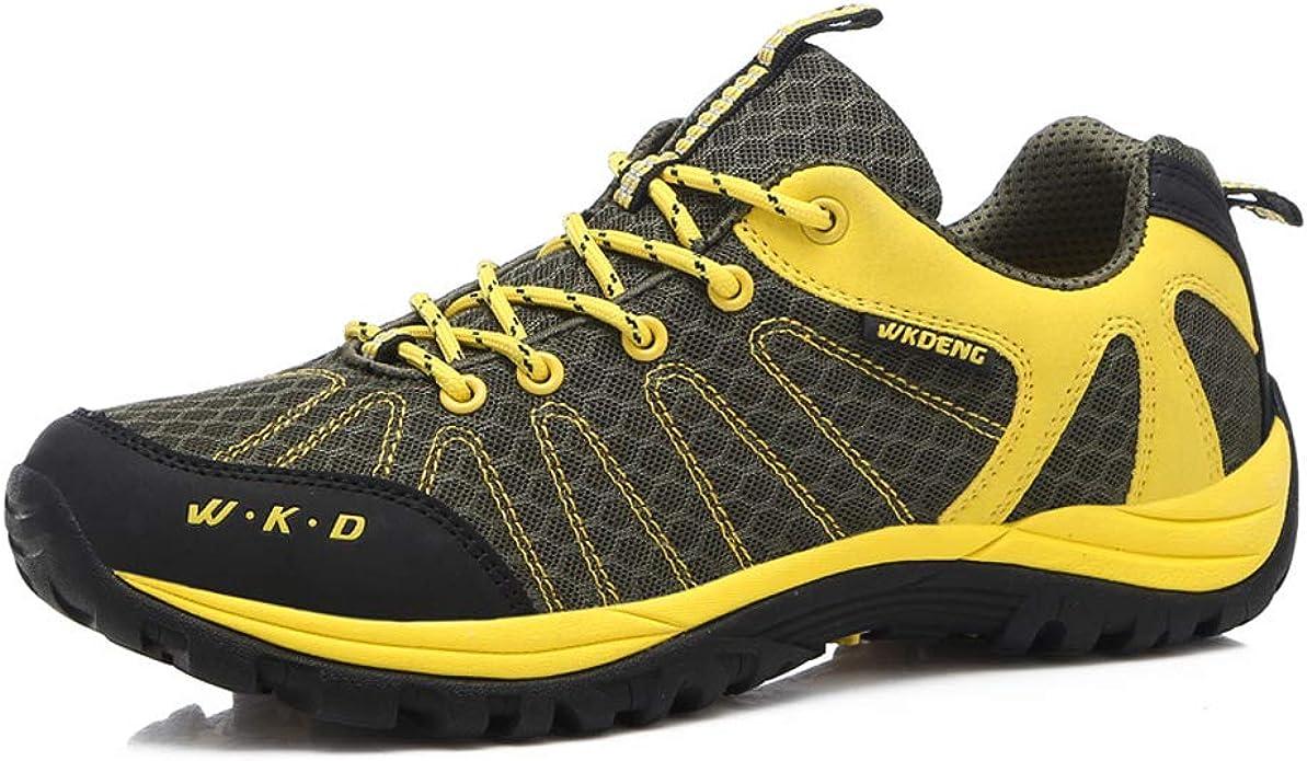 Calzado Deportivo Antideslizante Calzado Deportivo al Aire Libre de Secado rápido Zapatillas para Correr a Campo traviesa-yellow-43: Amazon.es: Zapatos y complementos
