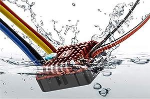 Hobbywing QuicRun Crawler Brush Brushed WP 1080 80A ESC Electronic Speed Controller Waterproof ESC With Program Box LED BEC XT60-Plug RC Car 1:10 30112750