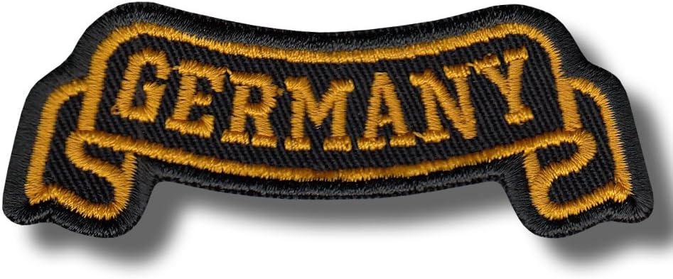Germany ribbon bordado parche 8x3 cm