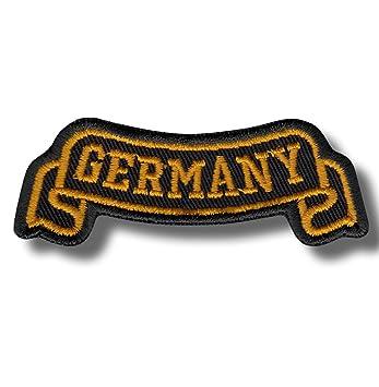 Germany Ribbon - Bestickter Aufnäher, Patch 8x3 cm