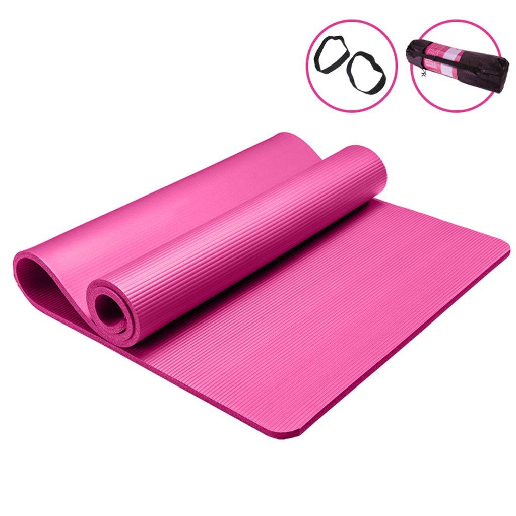 rose 801851.5cm Yoga Tapis Fitness et Musculation Nbr en Caoutchouc Tapis de Yoga épaississeHommest Fitness Camping Tapis de Danse Anti-dérapant 35.4  72.8  0.4in (Couleur   violet, Taille   80  185  1cm)
