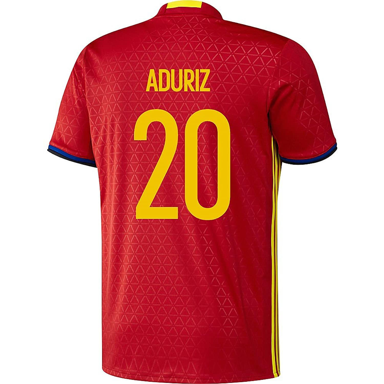 Aduriz # 20 Spain Home Soccer Jersey Eufa Euro 2016 B01FWJVE4E X-Large