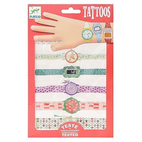 Tatuajes infantiles Djeco Body Art Wendys, diseño de relojes