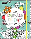 Wells Street by Lang Embrace The Day Monthly Coloring Planner, August 2016-December 2017 (17996091002)