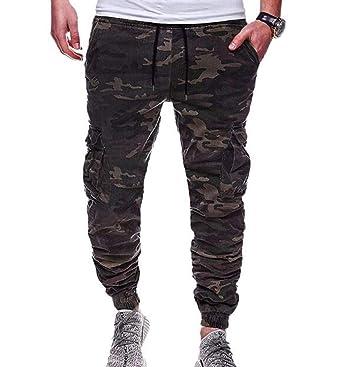 Huateng Pantalones Pitillo elásticos para Hombre Pantalones de ...