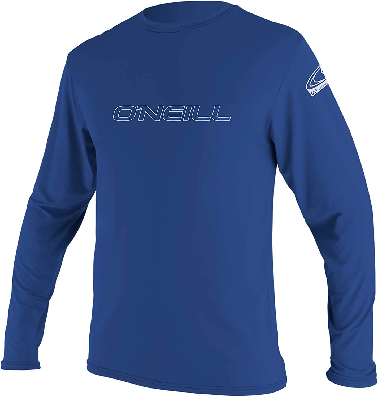 O'Neill Wetsuits Men's Basic Skins 50+ Long Sleeve Sun Shirt: Clothing