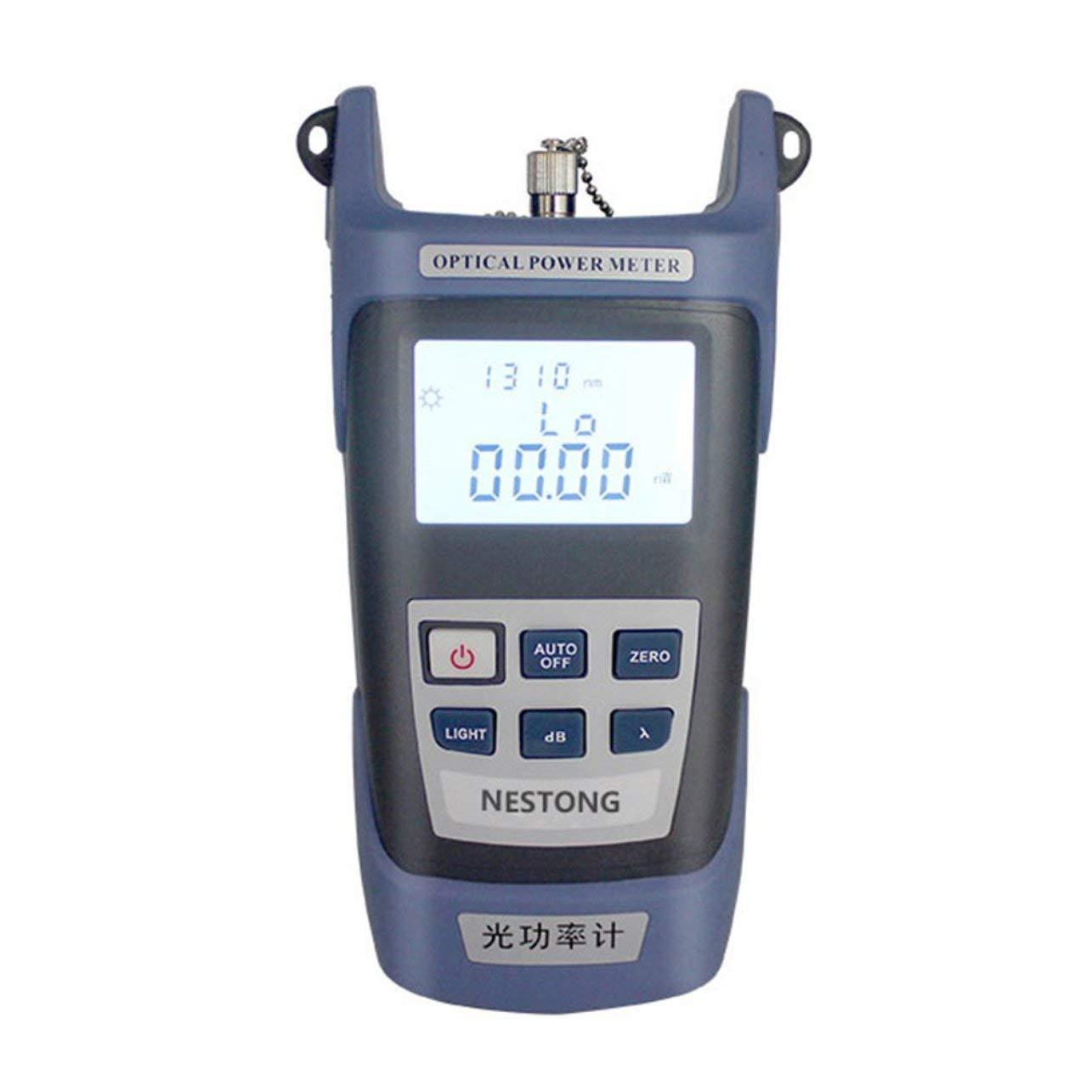 Medidor de potencia de fibra óptica de alta precisión -70 ~ + 10dBm SC/FC / ST Connector (Color: azul y negro): Amazon.es: Hogar