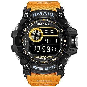 SW Watches Relojes SMAEL Digital Reloj Deportivo con Esfera Grande para Hombre Ejecución De 50M Impermeable