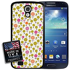 Cute Garden Orange Purple Green Flowers Galaxy S4 Hard Case