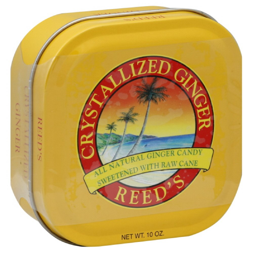Reeds Crystallized Ginger in Tin, 10-Ounces (Pack of 4)