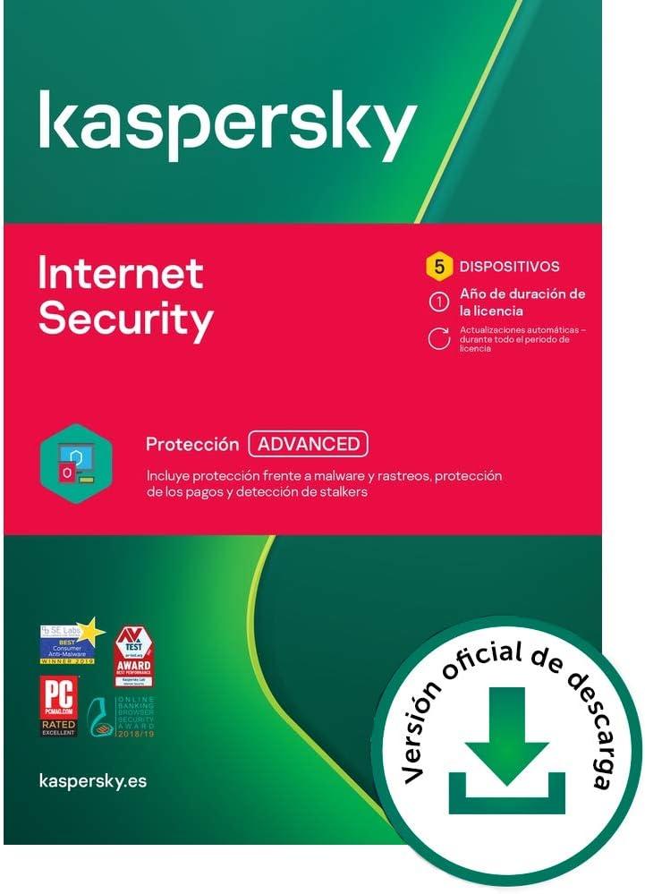 Kaspersky Internet Security 2021   5 Dispositivos   1 Año   PC / Mac / Android   Código de activación vía correo electrónico
