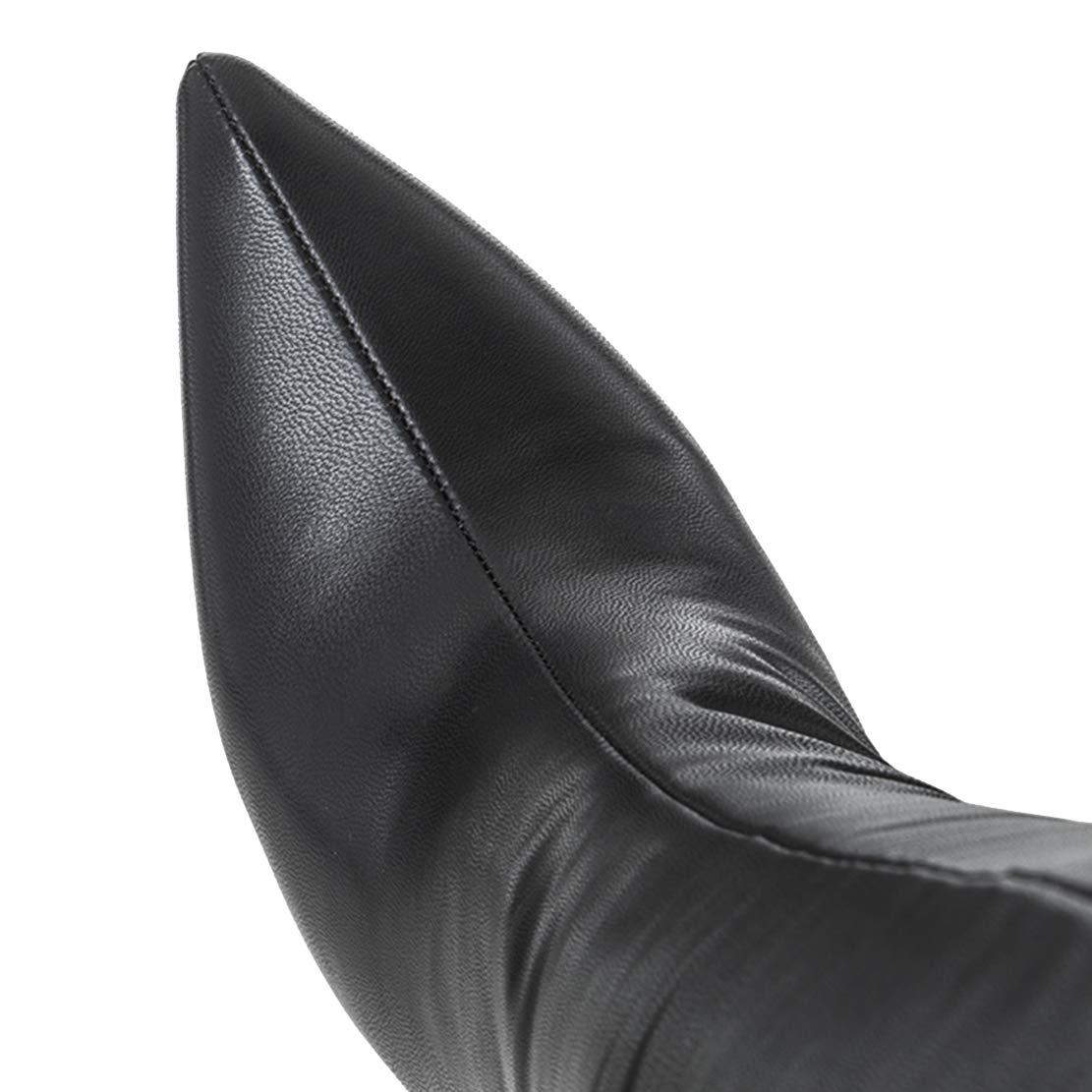 AIYOUMEI Damen Spitz Stiletto Lack Overknee Stiefel mit 12cm 12cm 12cm Absatz High Heels Elegant Perty Stiefel Schuhe 8abbd6