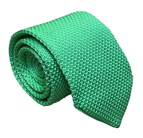 (Mens Classic Apple Green Solid Color Silk Ties Designer Cotton Necktie Neckwear)