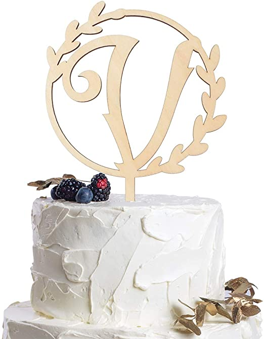 Box Package Wedding Cake Topper We Do Wood Wreath Wedding Cake Decoration Engagement Anniversary Bridal Shower Cake Topper 6-inch