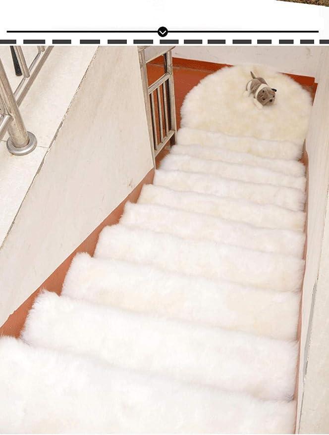 ACZZ Almohadillas para escaleras Autoadhesivas Antideslizantes Mudo Etiqueta de piso Alfombrillas Alfombras Protector Alfombra Decoración para el hogar Blanco_75X24Cm,Blanco,65 * 24CM: Amazon.es: Bricolaje y herramientas