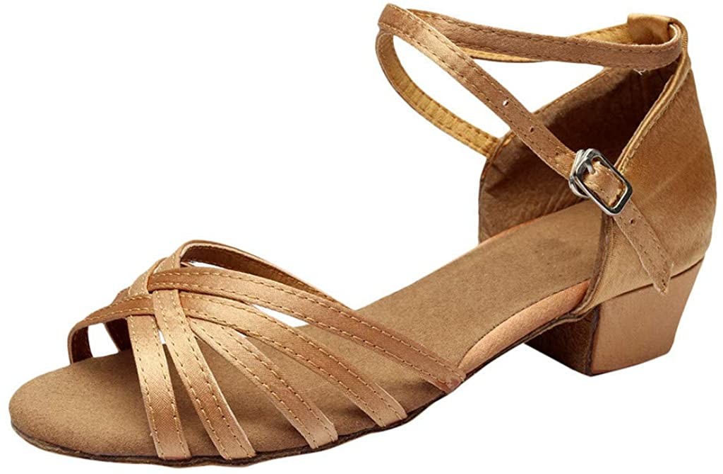 Damen Tanzschuhe Standard//Latein Salsa Tango Dance Schuhe Blockabsatz Weiche Sohle Party Hochzeit Elegante Sandalen Celucke