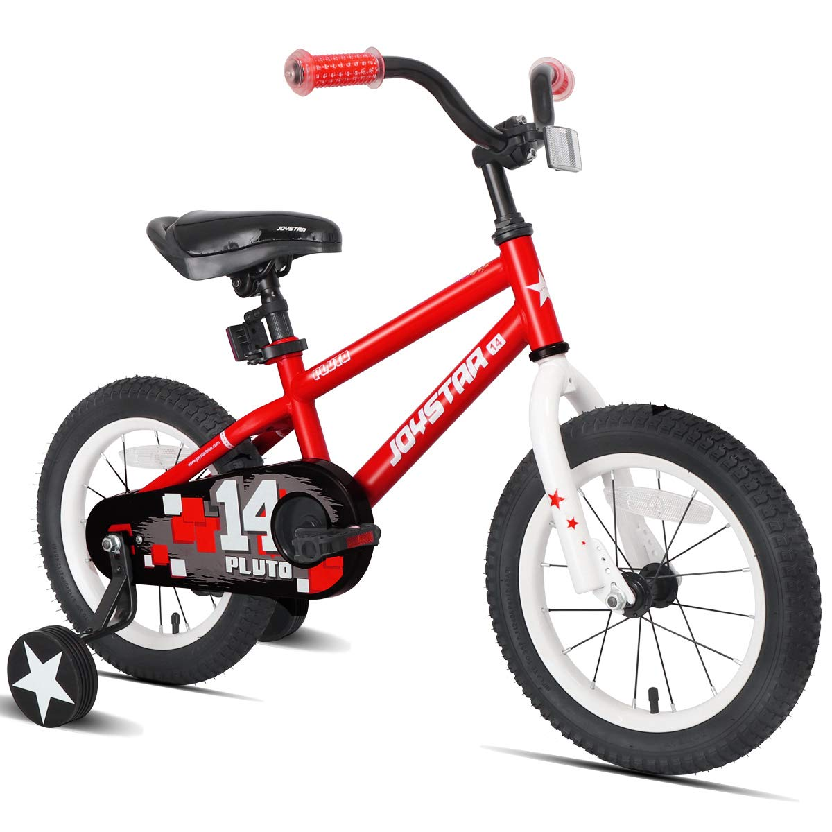 JOYSTAR 12'' Pluto Kids Bike with Training Wheels for 2 3 4 Year Old Boys & Girls, Unisex Kids Bicycle, Pedal Cycle for Toddlers, Red by JOYSTAR (Image #1)