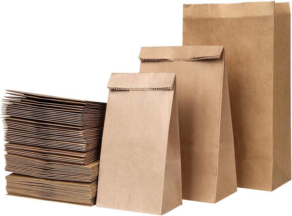 pan VEYLIN para fiesta de cumplea/ños papel de regalo 3 tama/ños surtidos verduras 120 bolsas de papel marr/ón para s/ándwich boda