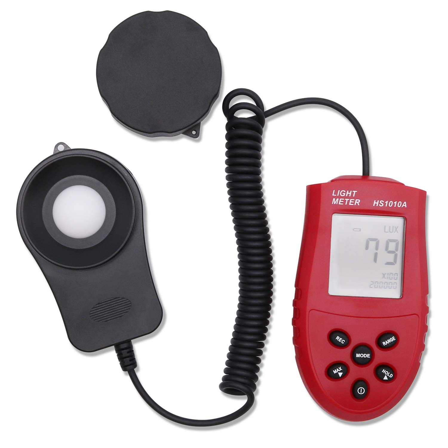 TRENDBOX Digital Light Meter Tester Luxmeter Luminometer Photometer High Accurate 200000 Lux/FC HS1010A with LCD Display Handheld Portable