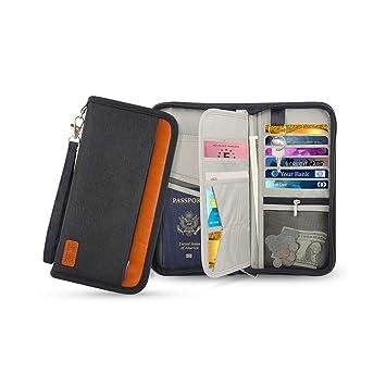 Amazon.com: WXLAA Travel Wallet Passport Holder RFID ...