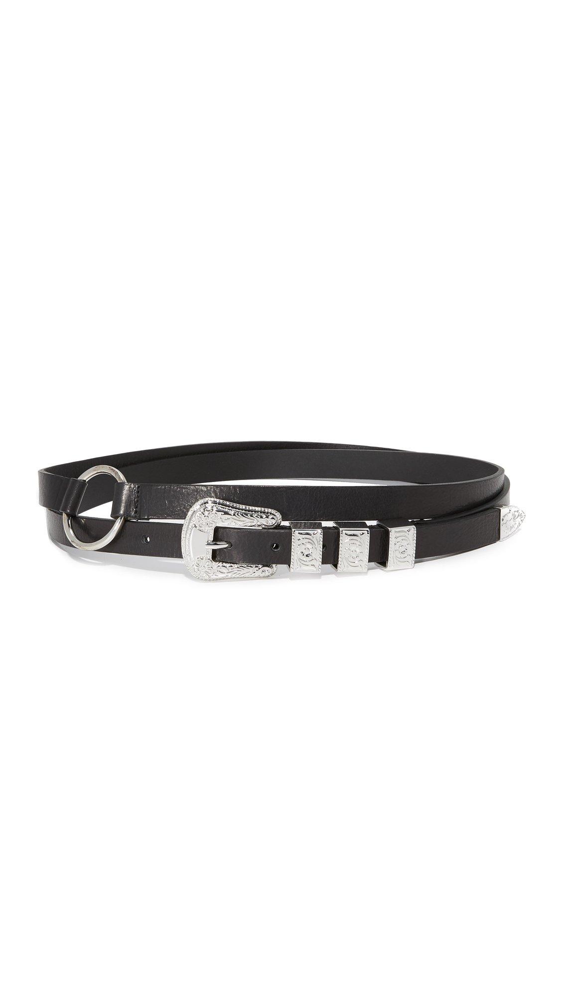 McQ - Alexander McQueen Women's Solstice Double Wrap Belt, Black, Small by McQ Alexander McQueen