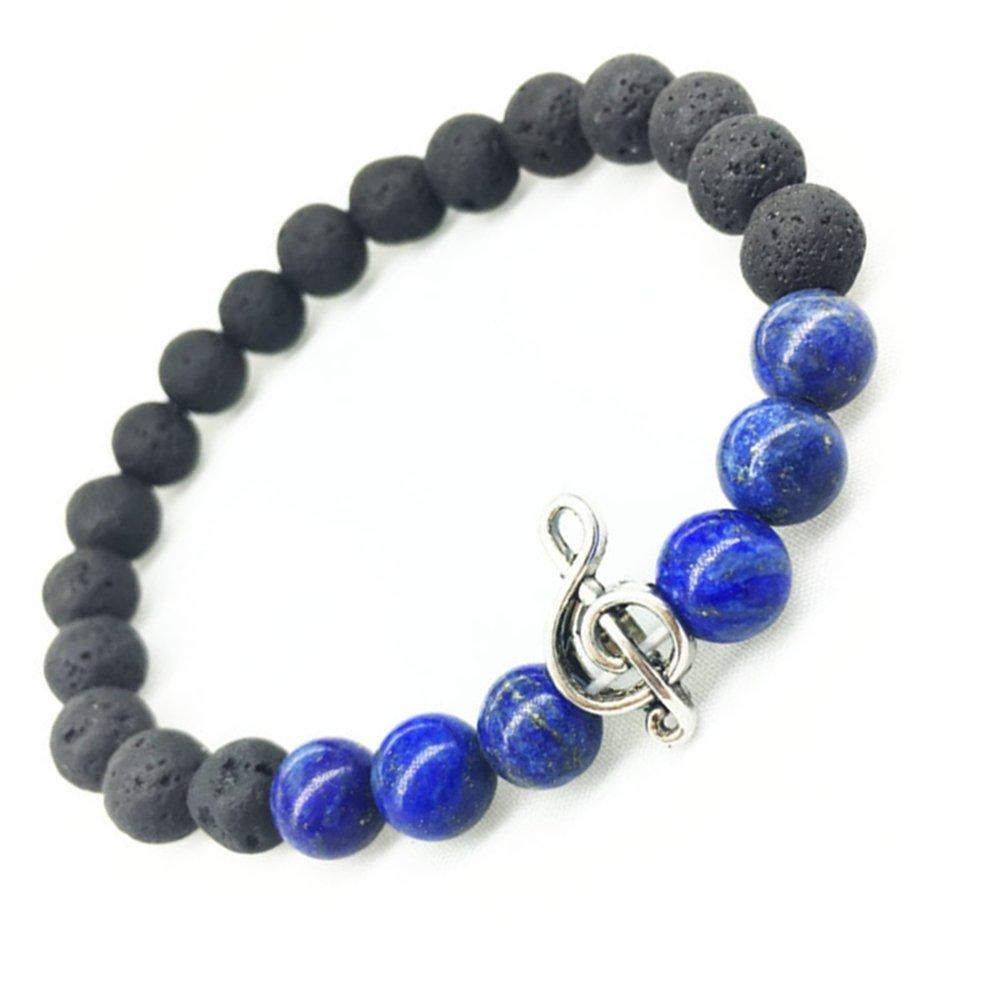 drawihi Buddha Hand Kugeln Lava Gr/ün Lava Lavastein-Armband Achat