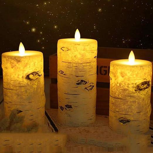 Qzny Velas LED, Luz de decoración, Luz de té sin Llama, Luz ...
