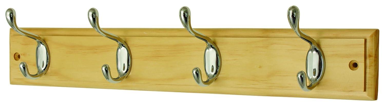 Headbourne Hr0612H - Perchero (4 ganchos, cromo y madera) Select Hardware