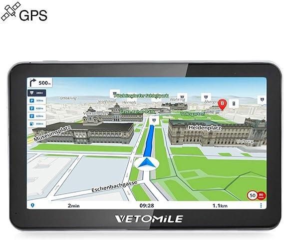 vetomile 704 Win CE 6.0 Navegador GPS para coche de 7 pulgadas TFT LCD Pantalla con mapas gratuitas integrados/Touch Screen/reproductores MP3, MP4/E-book/Video/Audio/Game Player/transmisor FM/Flash/TF/USB/antena GPS/auricular estéreo Hi-Fi: Amazon.es ...