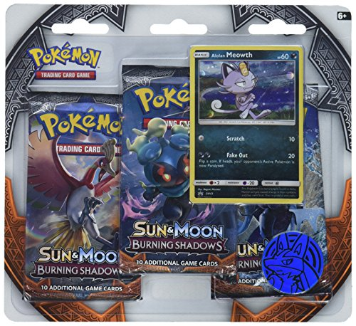 Pokemon TCG Sun & Moon Burning Shadows Three-Booster Blister