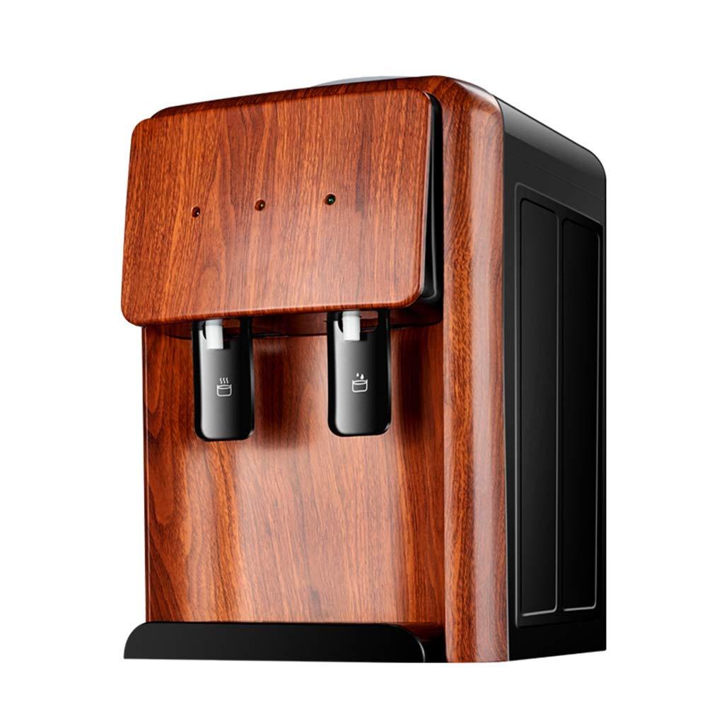 CUIS- European-Style Water Dispenser Desktop, Home Small Energy-Saving Ice Warm Imitation Wood Grain Water Machine (Color : Warm Type)