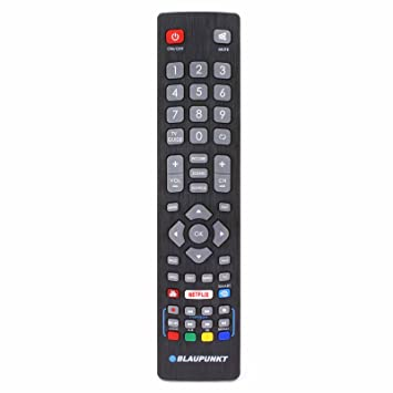 Blaupunkt BLF/RMC/0008 Genuine Remote Control for LCD LED 3D HD Smart TV'S  with Netflix Youtube 3D Buttons - With Two 121AV AAA Batteries Included
