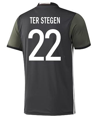 e07a8711e Adidas Ter Stegen  22 Germany Away Soccer Jersey Euro 2016 YOUTH (YXS)