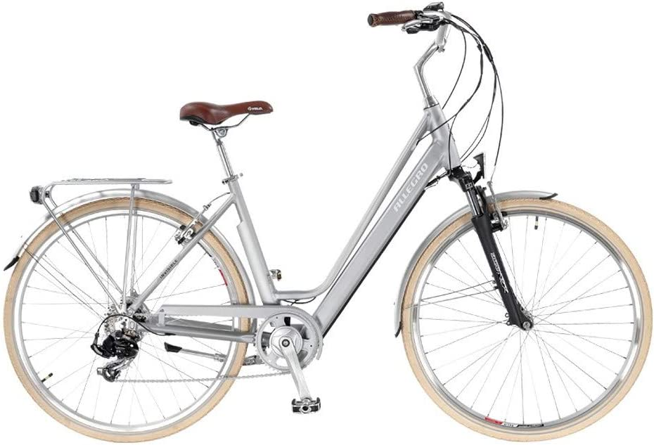 Allegro Invisible City Light Bicicleta eléctrica, Mujer, Plata, 28 ...