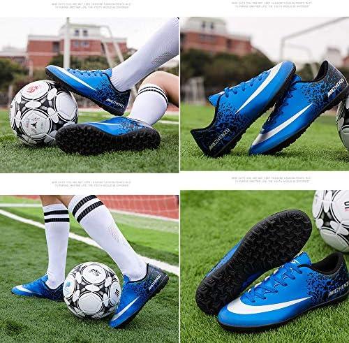 少年 学生 大人 TF サッカー靴 ダイヤモンドブルー レッグシールド付き 火山岩スケボー競技靴 超軽量 滑り止め 強い耐摩耗性 吸汗性 通気 高級 屋内外ランニングシューズ 男女兼用(19.0CM-27.0CM)