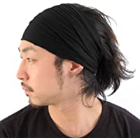 CHARM Casualbox | Mens Womens Headband Bandana Stretch Hair Band Japanese Style