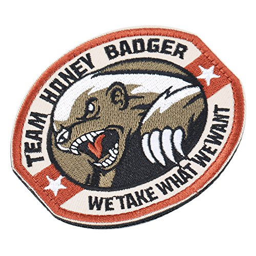 Toonol New Team Honey Badger Military Tactical Army Morale Combat Multicam Patch