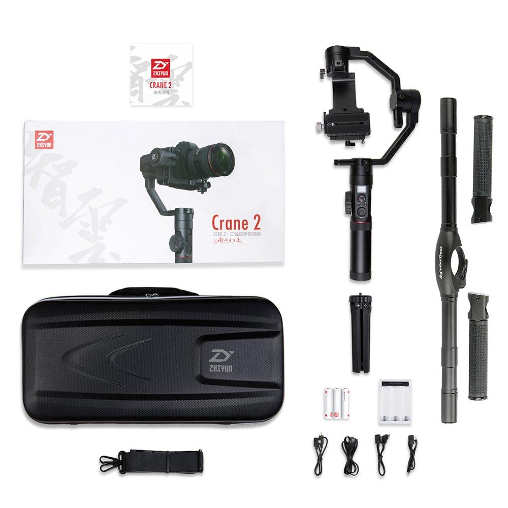 Zhiyun Crane 2 - Juego de 3 ejes de mano para cámaras réflex ...