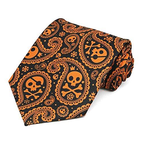 TieMart Men's Halloween Paisley Necktie ()