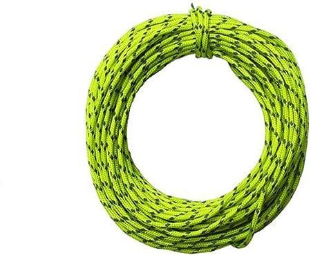 15 m (50) Cable de nailon reflectante Tejido para de alta resistencia cuerda de seguridad escalada escalada cuerda de rápel cuerda escalada equipo de ...