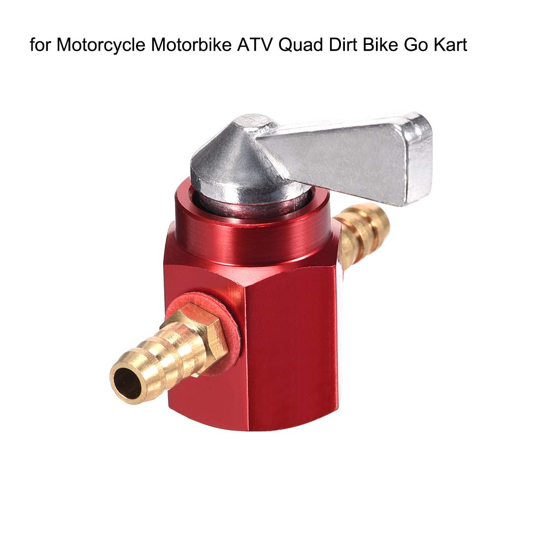 uxcell 1//4 Inch CNC Gas Inline Petrol On-Off Fuel Tap Petcock Valve Switch Red 2pcs