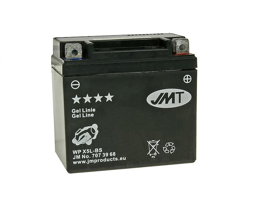 Batterie JMT - 707.37.45 - MF - YTX5L-BS 12 Volt China Scooter 125 cc [ inkl.7.50 EUR Batteriepfand ] 707.37.45 - YTX5L-BS 2952681