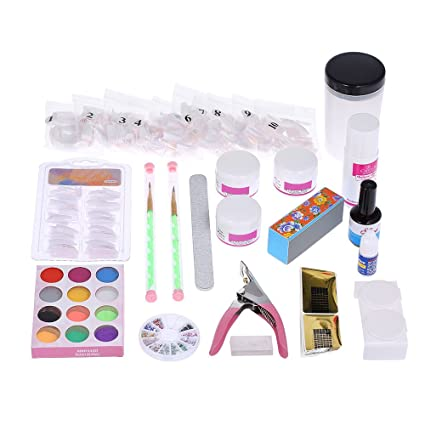 Anself Kit de Decoración de Uñas/Juego de Grabado de Uñas Cristal
