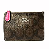 Coach Signature PVC Leather Mini Skinny ID Wallet Key Pouch