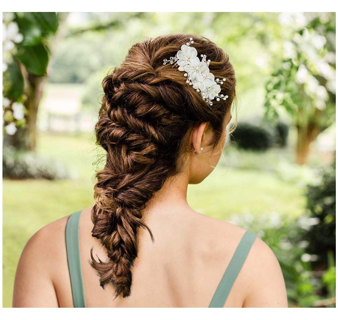 bridal headpiece butterfly hair comb gray wedding hair comb Bridal hair comb bridal accessories crystal hair comb wedding headpiece