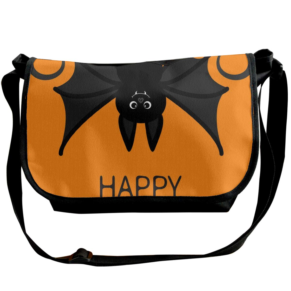 Taslilye Bat Hanging Happy Halloween Cute Cartoon Personalized Wide Crossbody Shoulder Bag For Men And Women For Daily Work Or Travel