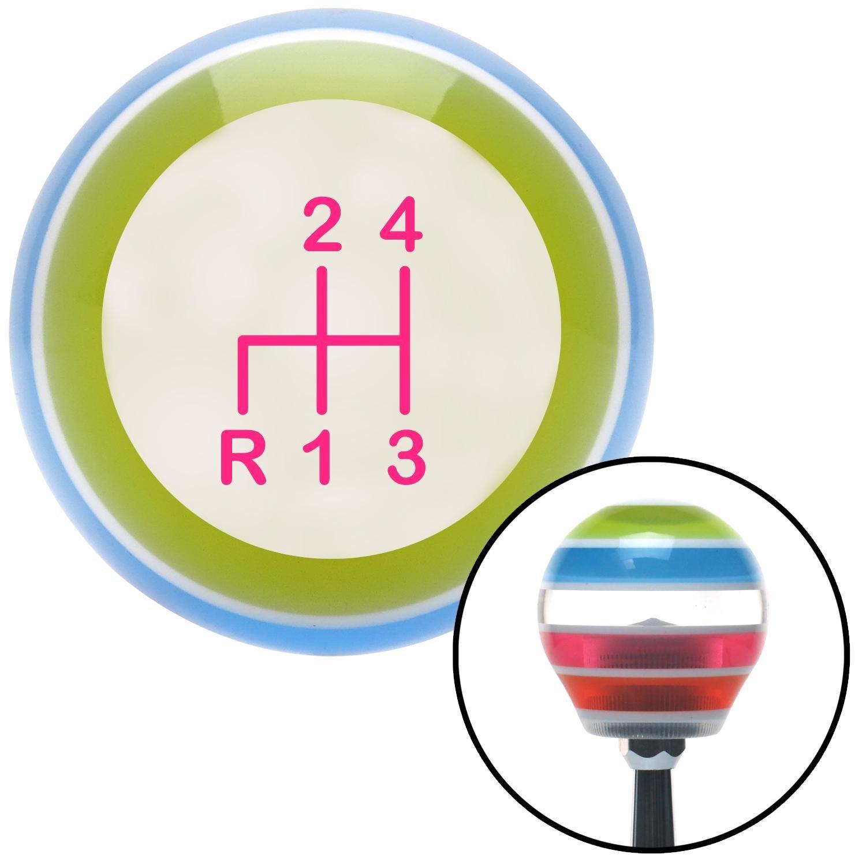 Pink Shift Pattern 2n American Shifter 136728 Stripe Shift Knob with M16 x 1.5 Insert
