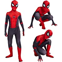 Leezeshaw Superhero Spiderman Costumes Unisex Adults Kids Lycra Spandex Zentai Spider Verse Miles Morales Jumpsuit…