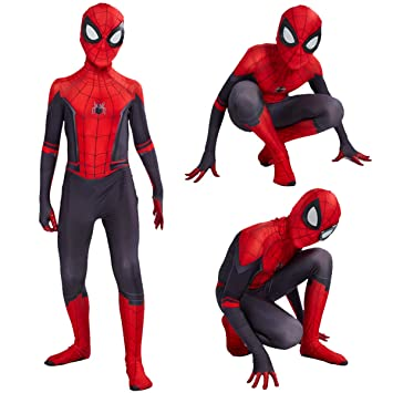 US Spider-Man Into the Spider-Verse Peter Parker Zentai Cosplay Costume Lycra